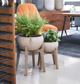 LH Imports Planter LH Small Urn W/Stand PAT014-S