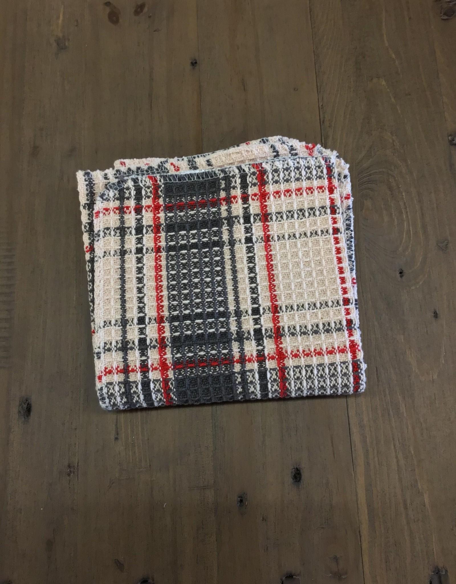 Dish Cloth Cabin Craft Tartan S/2