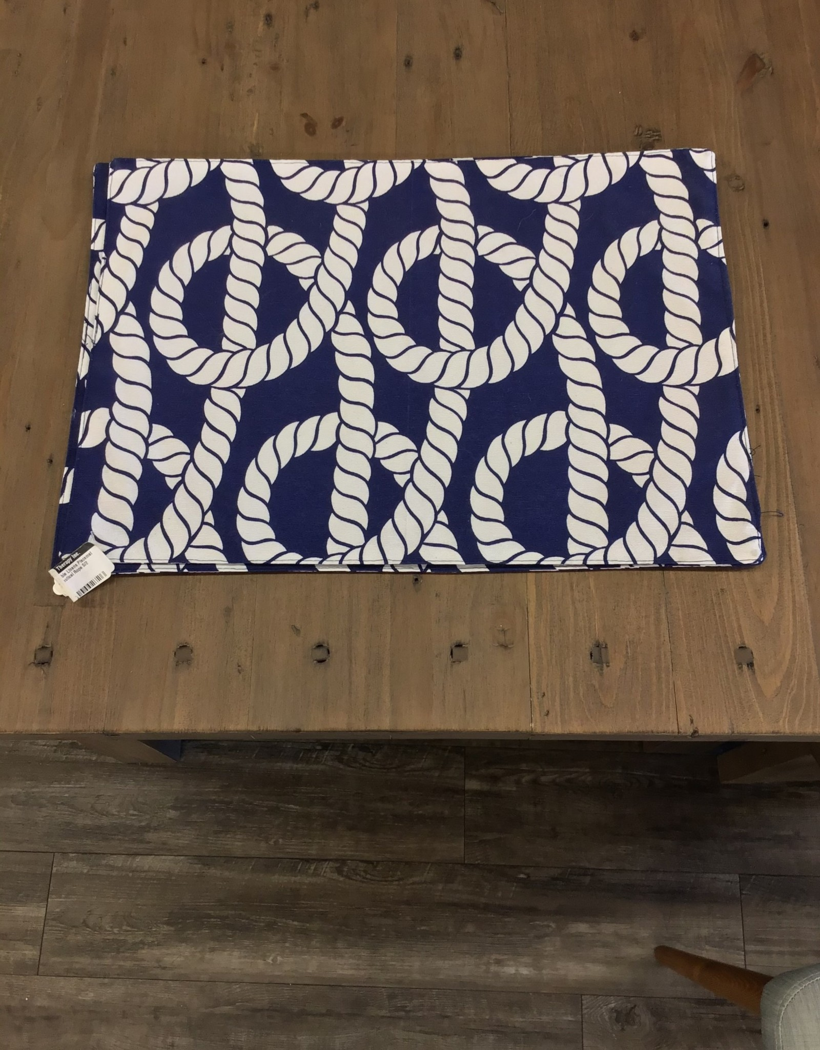 Placemat CC Nautical Rope Navy