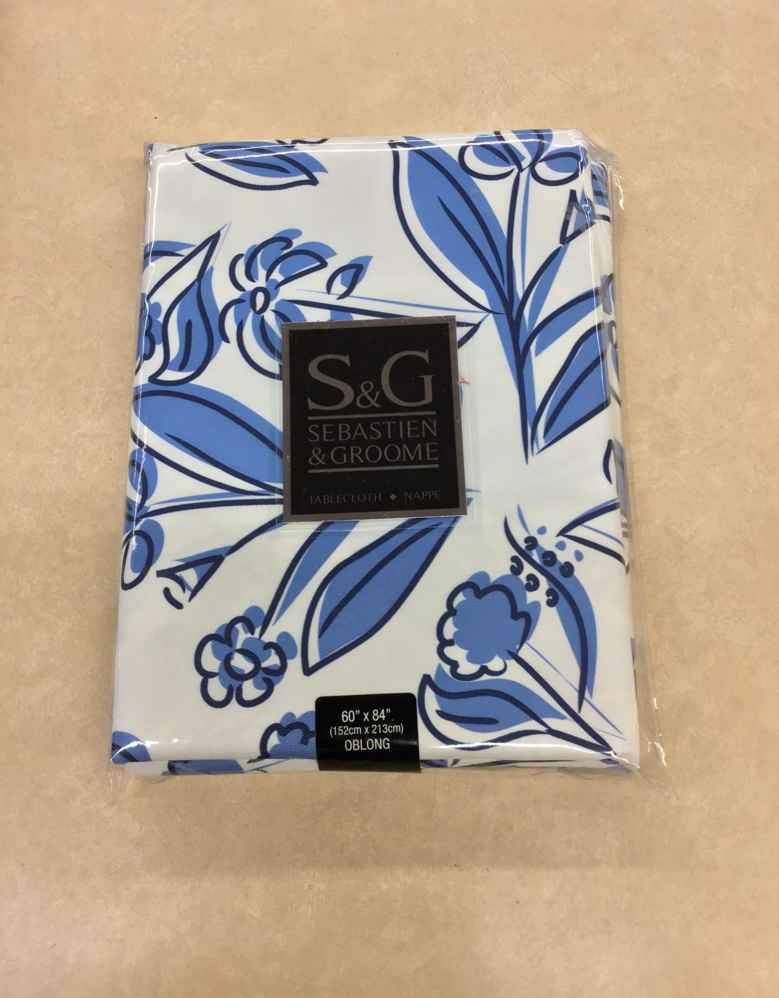 Table Cloth Floratisse Blue 60 x 84
