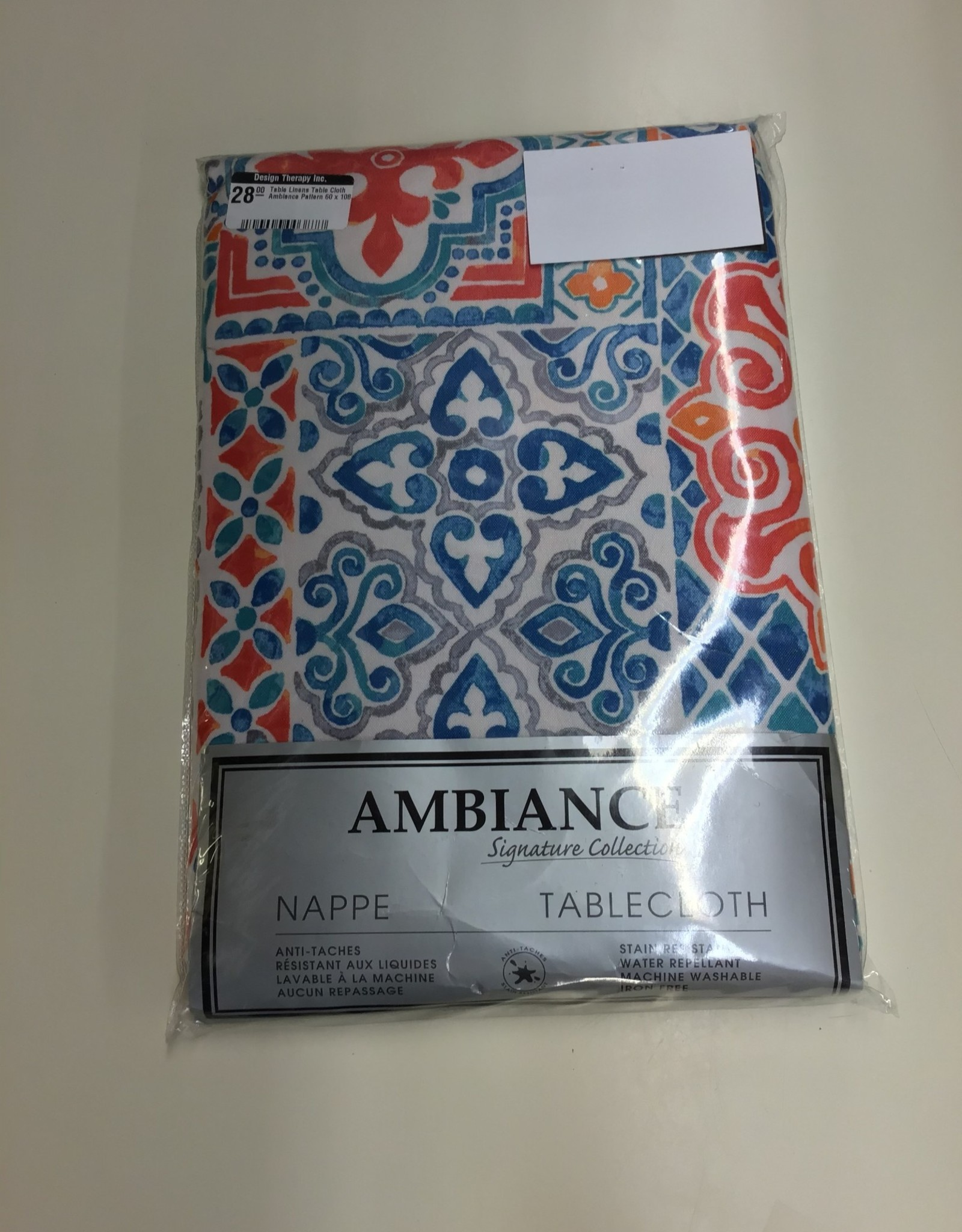 Table Cloth Ambiance Pattern 60 x 108