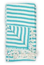 Pokoloko Turkish Towel Pokoloko Zebra Bamboo Blue TTBZ3