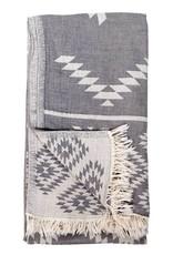 Pokoloko Turkish Towel Pokoloko Geometric Spanish Grey TTGE3