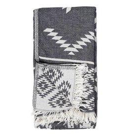 Pokoloko Turkish Towel Pokoloko Geometric Black TTGE2