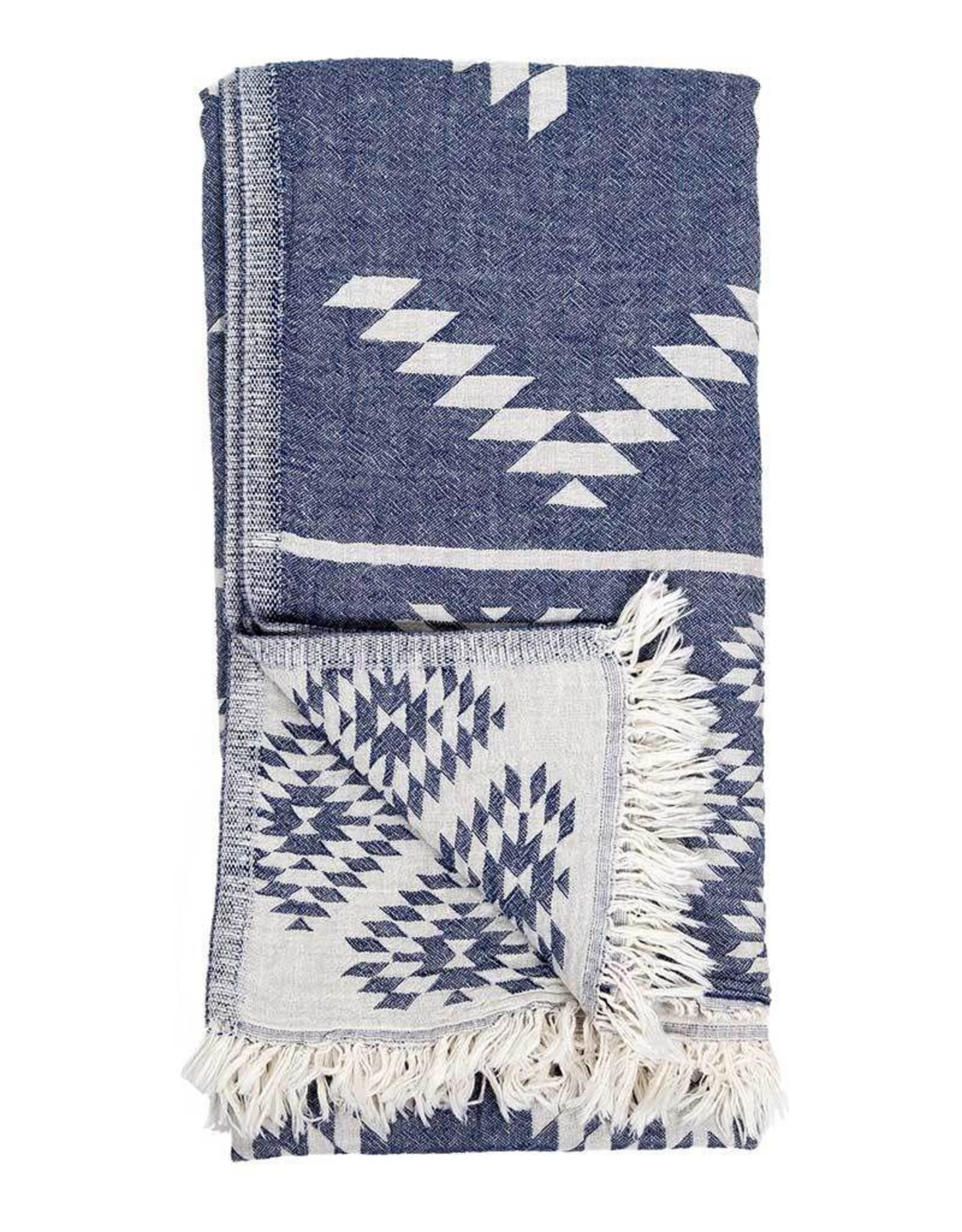 Pokoloko Turkish Towel Pokoloko Geometric Cowboy Denim TTGE1
