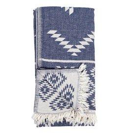 Pokoloko Turkish Towel Pokoloko Geometric Cowboy Denim TTGE1