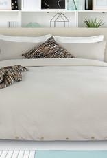 Alamode Home Duvet Set RJS Coxen Sand Queen w / shams