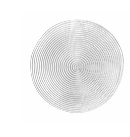 Placemat Harman Sheer Round White S/2