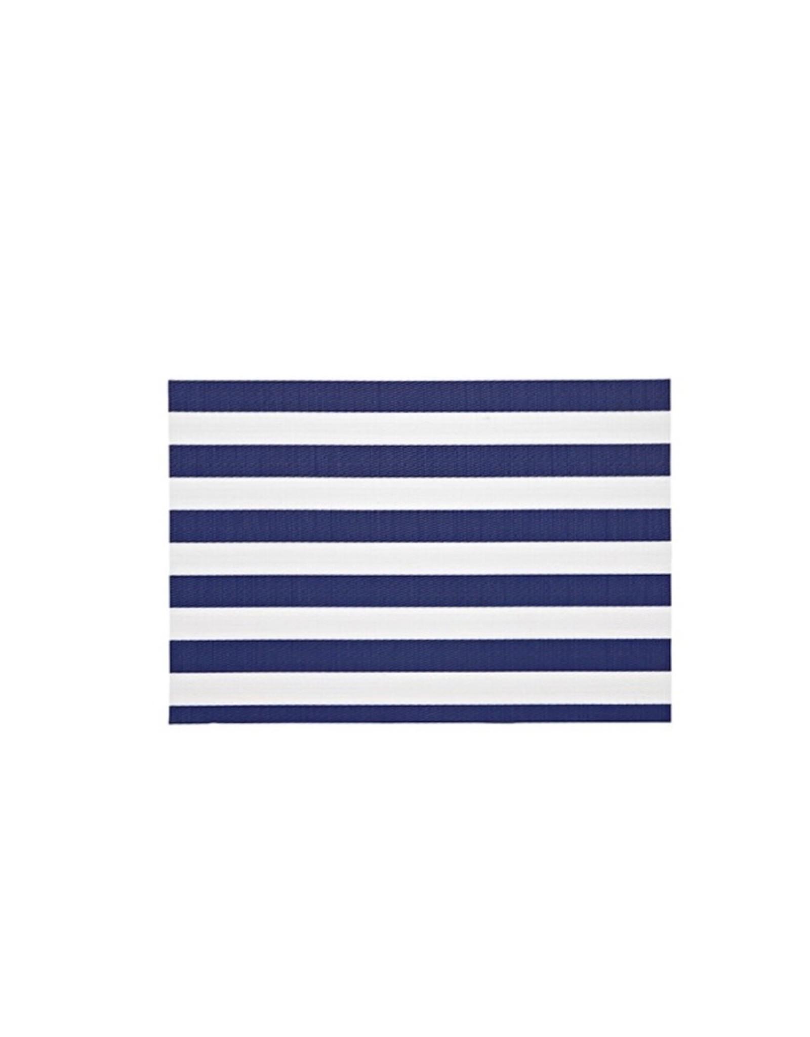 Placemat Harman Vinyl Rectangle NV/ WH Stripe S/2