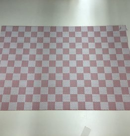 Placemat Harman Vinyl Red White Check S/2