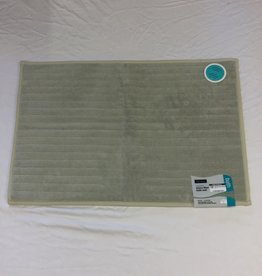 Bath Mat Harman Reverse Microfiber Grey / Black 20 x 32