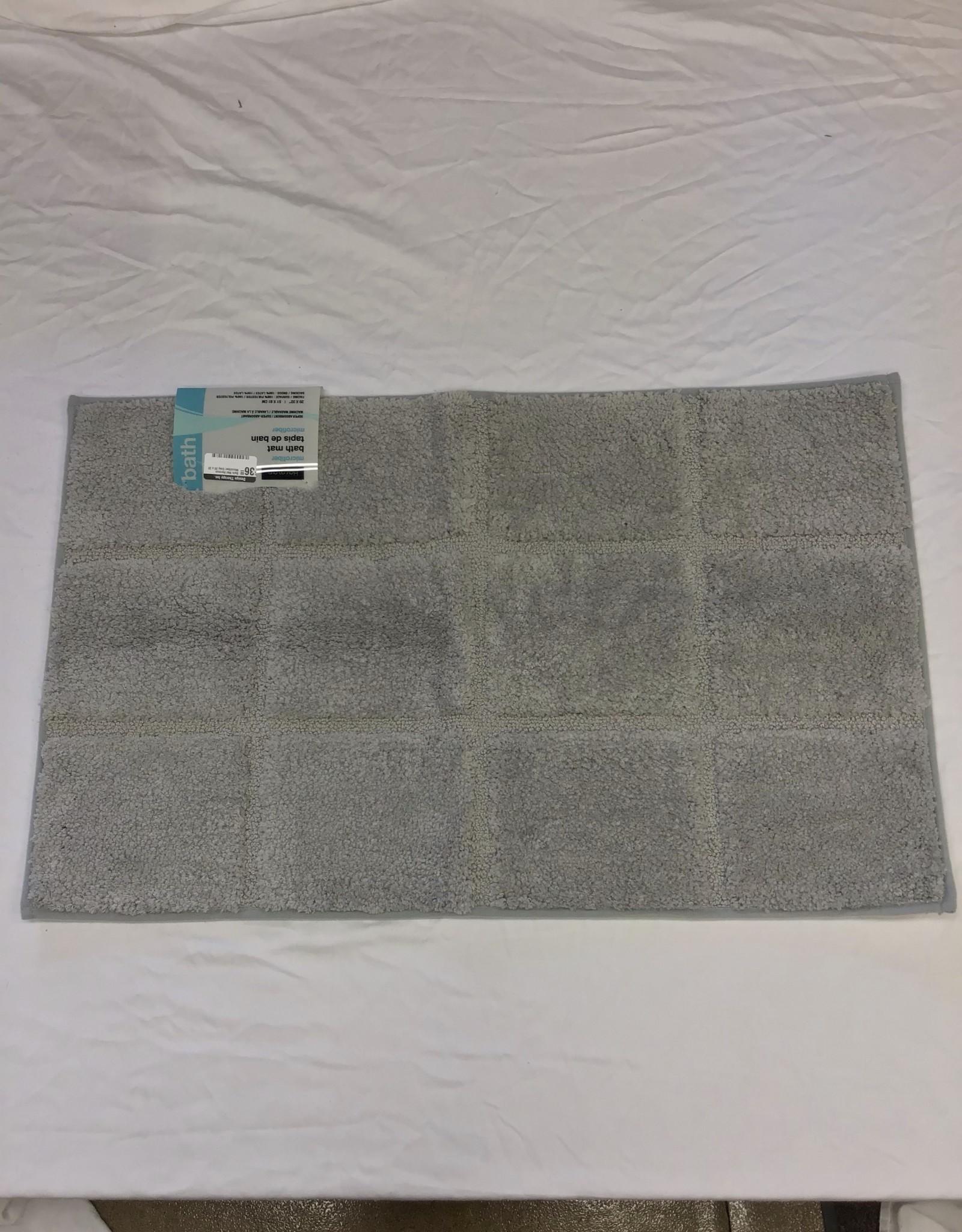 Bath Mat Harman Microfiber Grey 20 x 32
