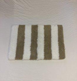 Fab Styles Bath Mat Fab Styles Taupe White 16 x 24