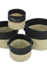 Cathay Basket Cathay Round Felt & Straw Medium