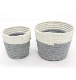 Cathay Basket Cathay Grey Cotton Rope 4.7
