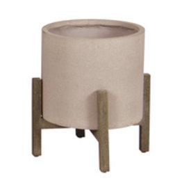 LH Imports Planter LH Standing Pot SM Brown Stone PAT015-BR