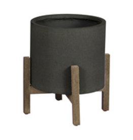 LH Imports Planter LH Standing Pot SM Black PAT015-BL