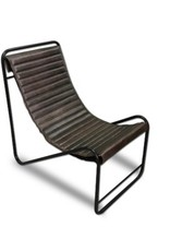 NACH Jacques Iron Leather Chair