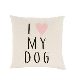 Indaba Cushions Indaba I Love My Dog 20 x 20