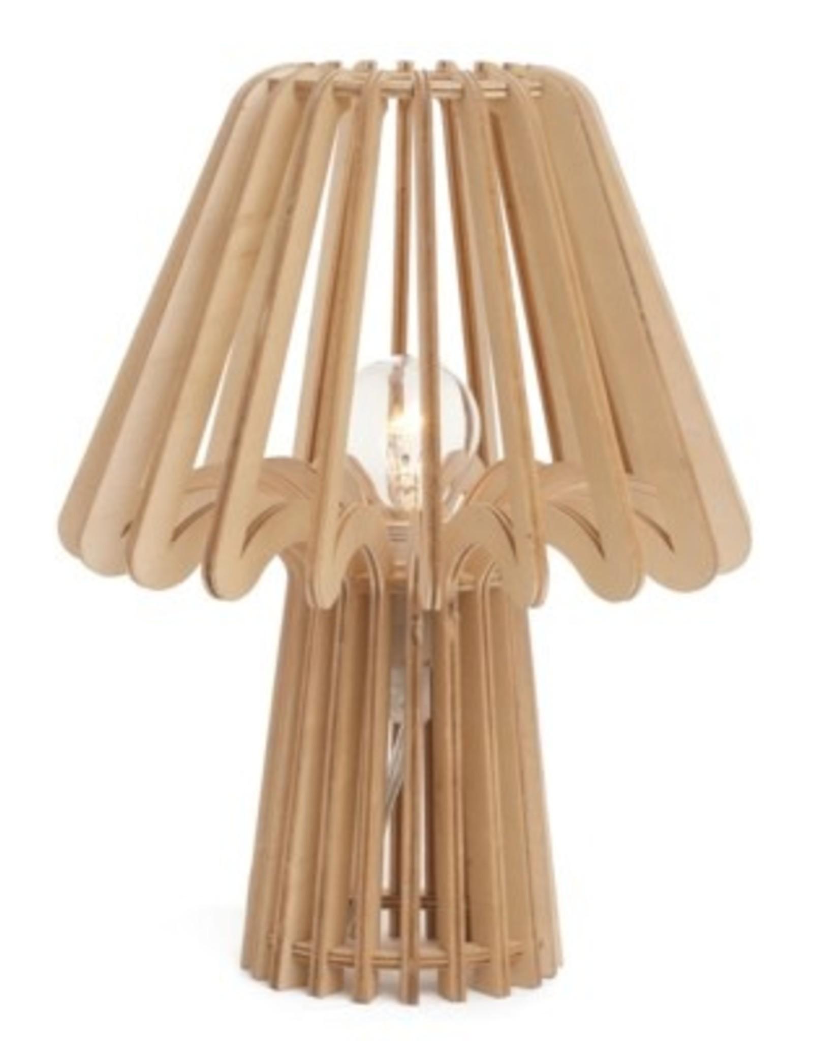 Lamp Bovi Calpe Wood Table Natural