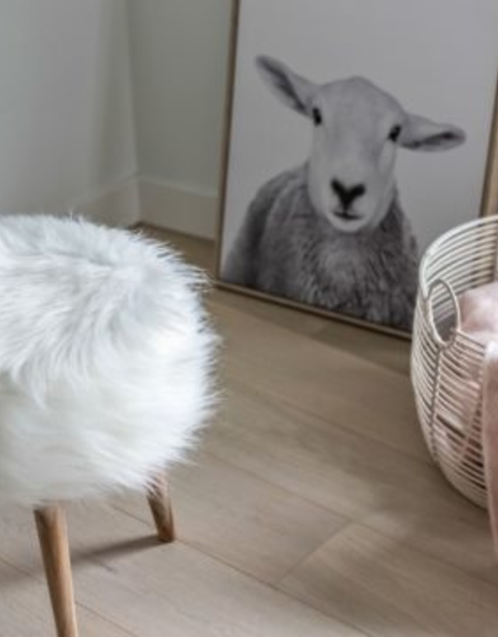 Style In Form SIF Bohemian  Faux Fur Stool BOH-032