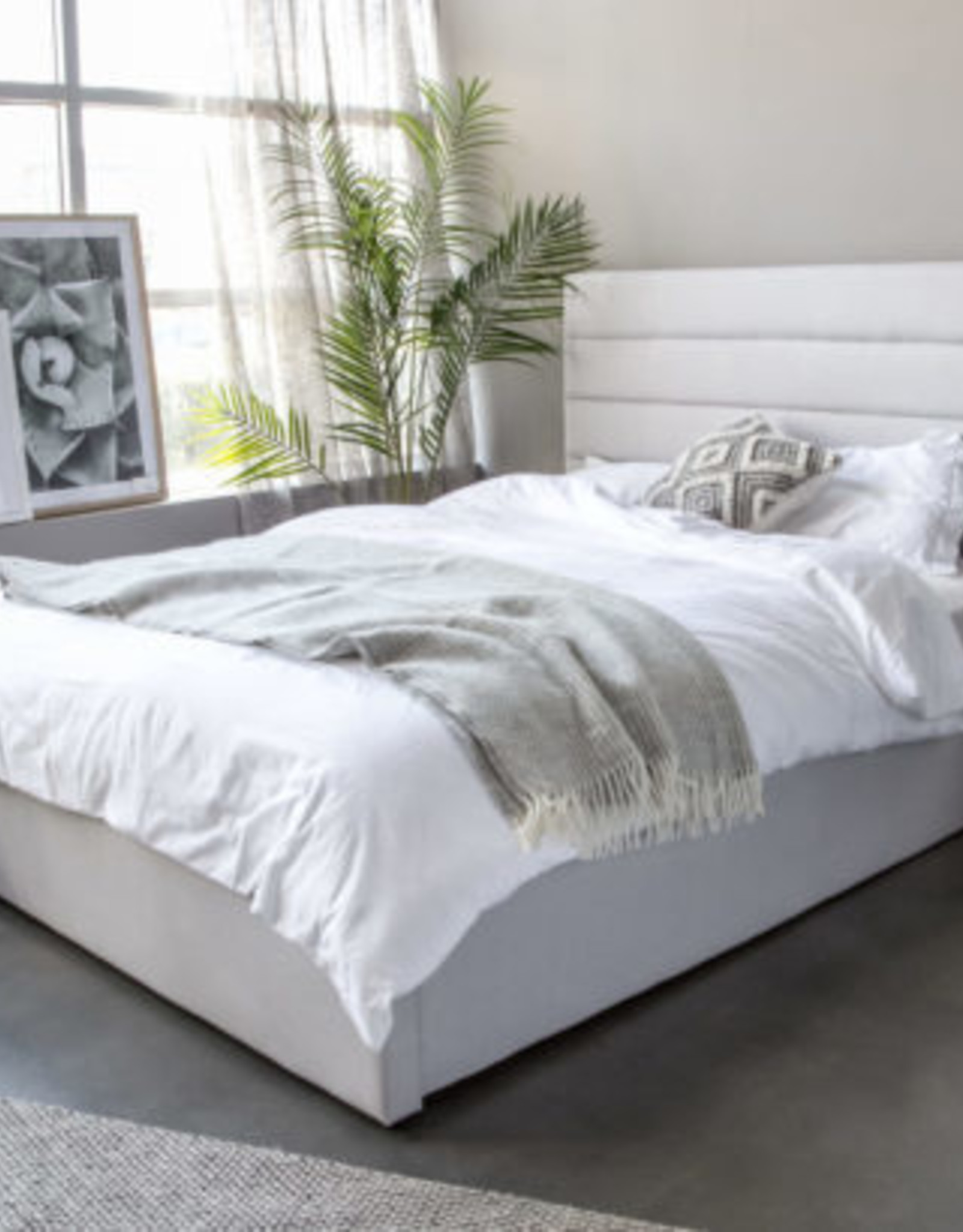 Style In Form SIF Justin Bed Tall Horizon Grey Queen JUS-024