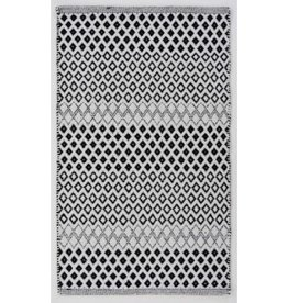 Fab Styles Rugs Fab Styles Vista Diamond Black 60x96