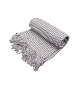 Fab Styles Throw Fab Styles Hounds Tooth Purple 50x60