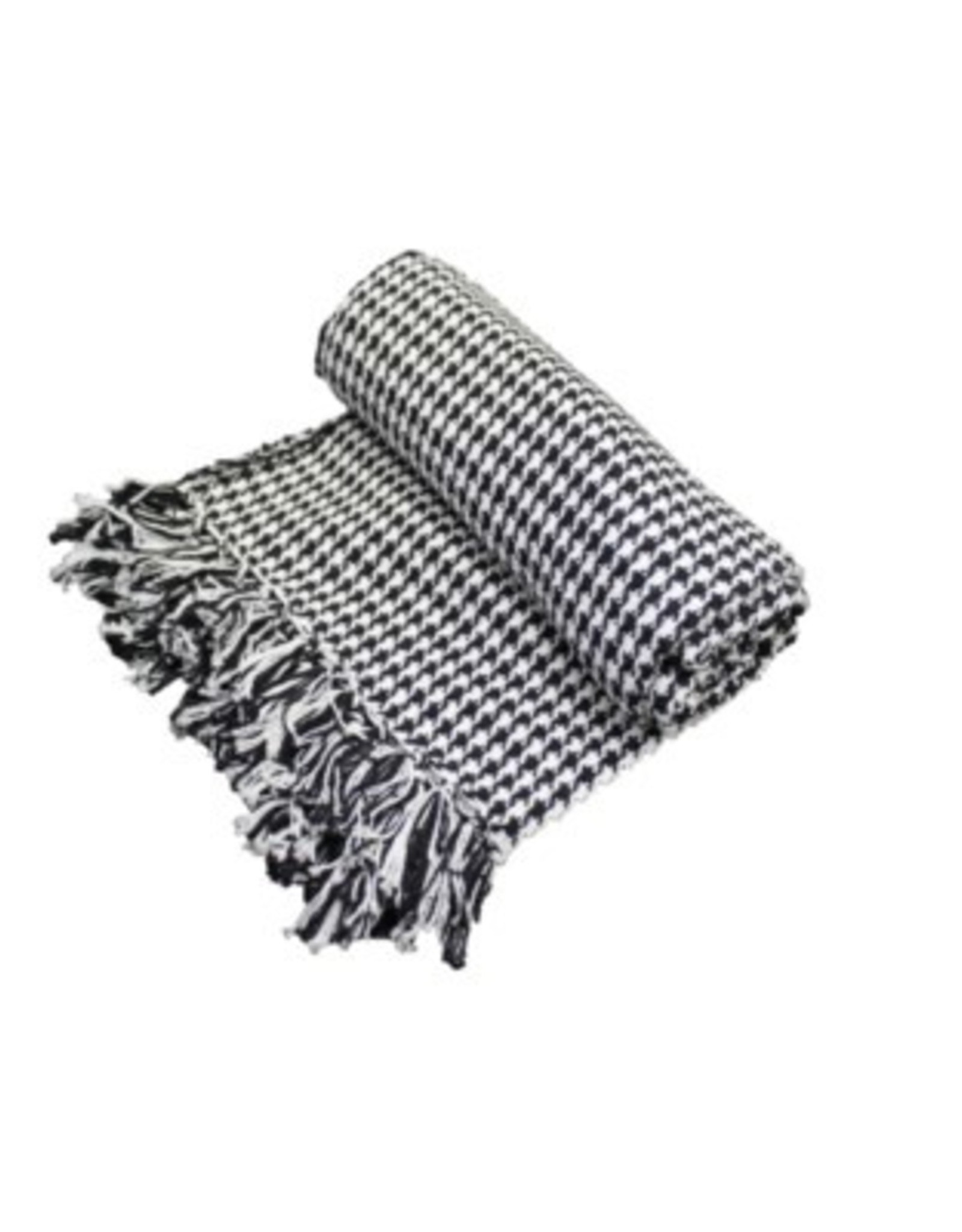 Fab Styles Throw Fab Styles Hounds Tooth Black / white50x60