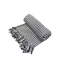 Fab Styles Throw Fab Styles Hounds Tooth Black / white 50 x 60 0