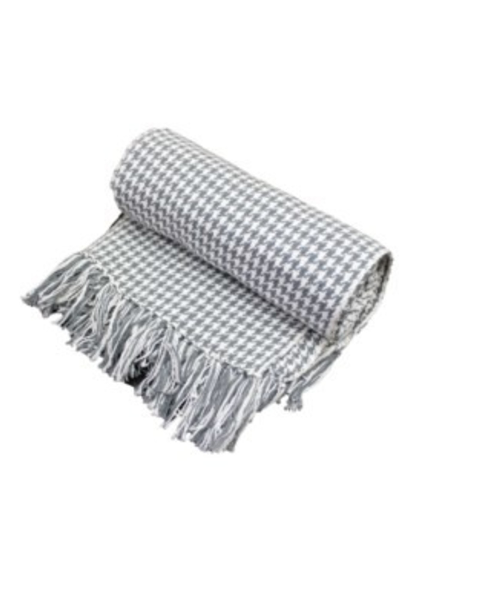 Fab Styles Throw Fab Styles Hounds Tooth Grey 50x60
