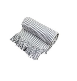 Fab Styles Throw Fab Styles Hounds Tooth Grey 50 x 60
