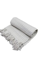 Fab Styles Throw Fab Styles Hounds Tooth Taupe 50x60