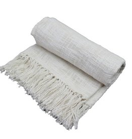 Fab Styles Throw Fab Styles Linen Look Ivory 50x60