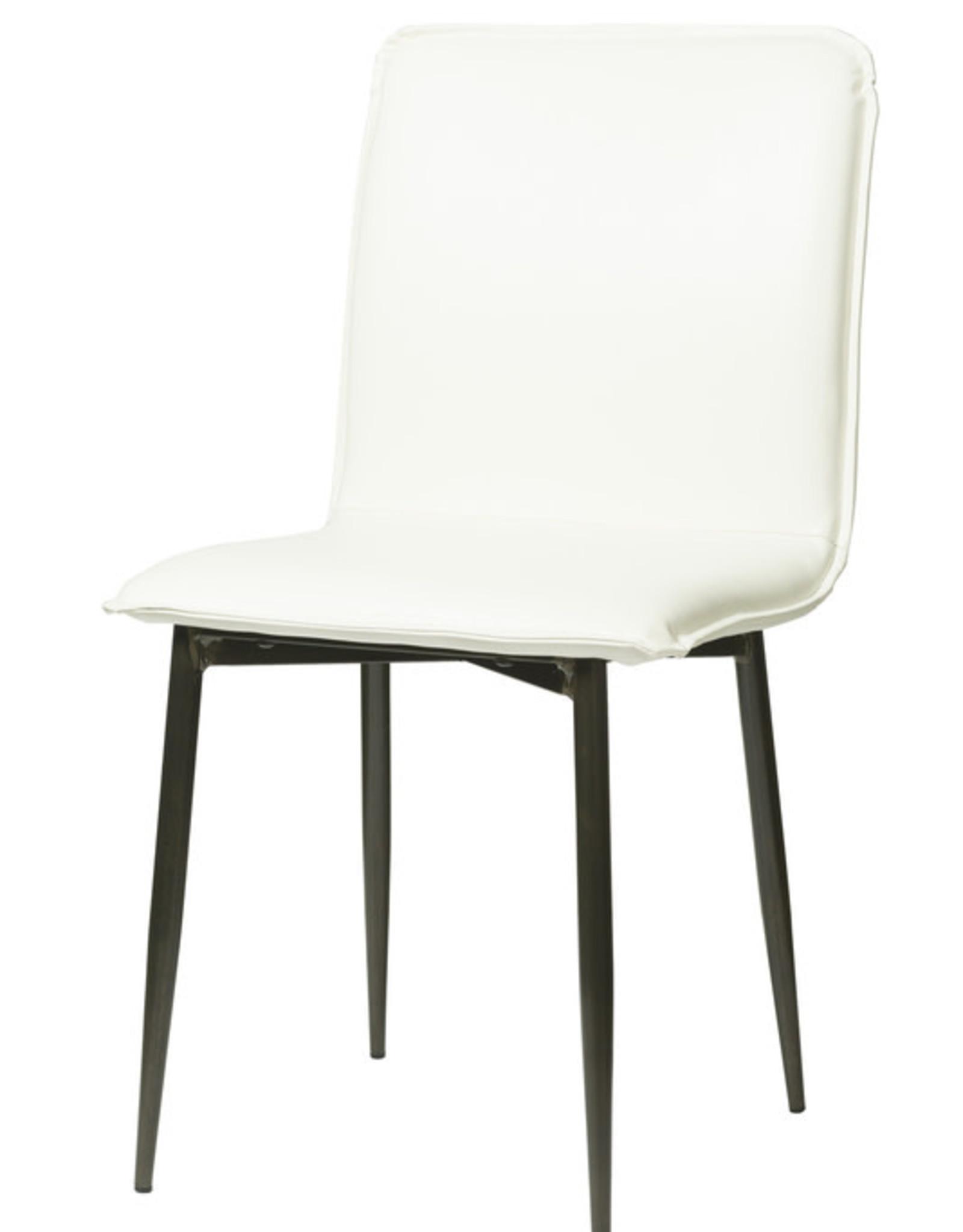 LH Imports LH Luca Dining Chair Fox White CR001-FW