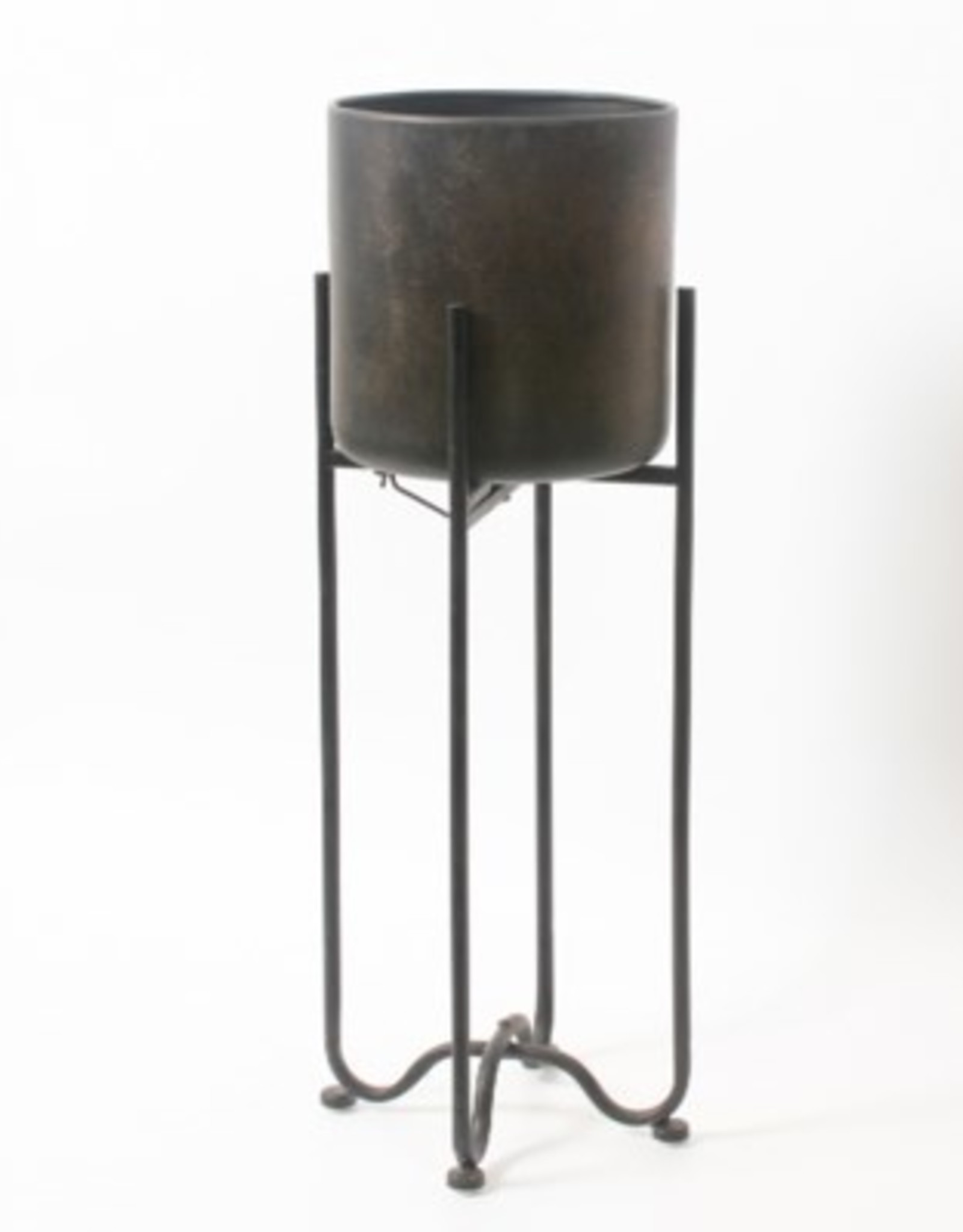 Planter CJ Marcus Metal Pot With Stand