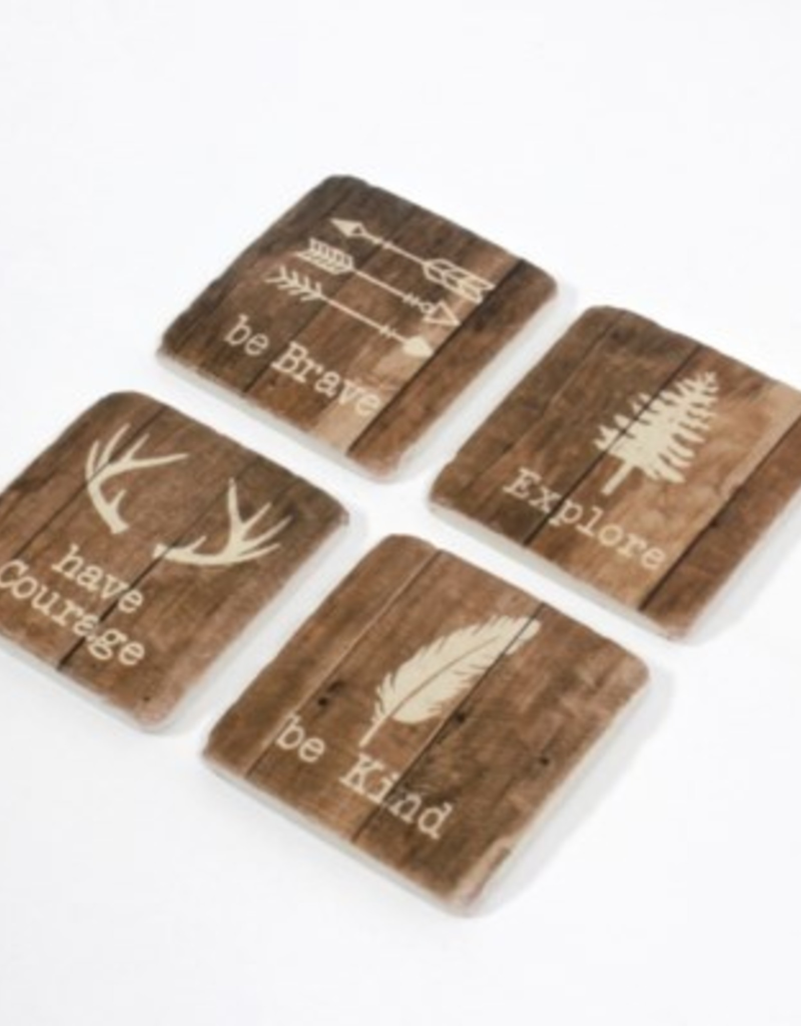 Coasters CJ Be Kind Resin Set/4