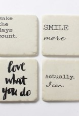 Coasters CJ Love What You Do Set/4