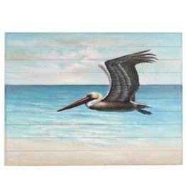 Painting CJ Flying Pelican On Wood