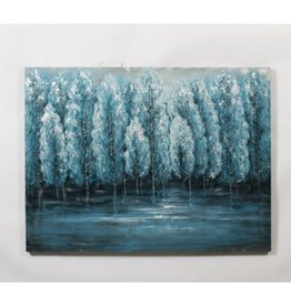 Painting CJ White Trees On Metal