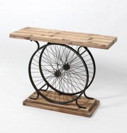 CJ Big Wheel Console Table
