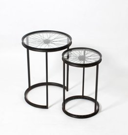 CJ Wheel Round Nesting Table Set/2 7168JX1622S2