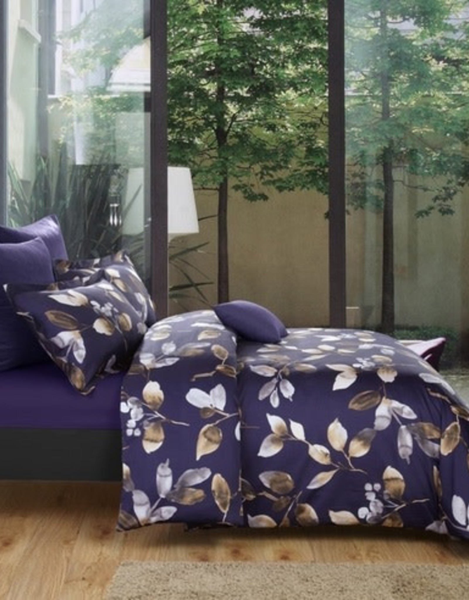 Daniadown Duvet Set Daniadown Banff Purple Queen w / shams*