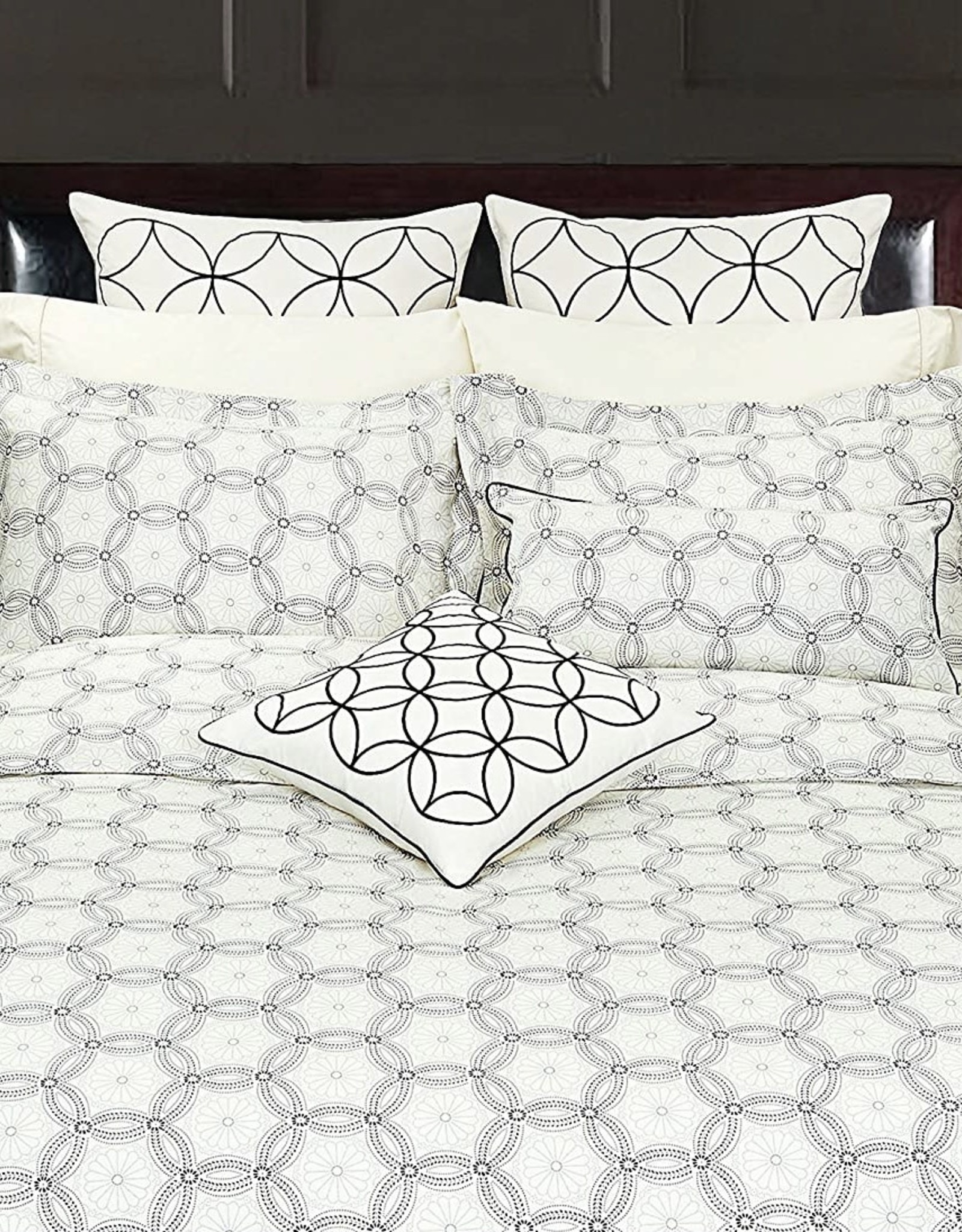Duvet Set Highland Feather Spiral Graph Double Cover w / Pillow Case