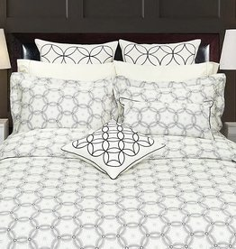Duvet Set Highland Feather Spiral Graph Double Cover w / Pillow Case