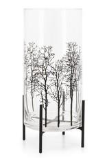 "Hurricane Vase Torre & Tagus Glass 15"" 903062B"
