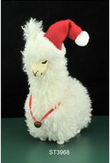 """Xmas Starlight Llama Standing White 13.5"""" ST3968"""