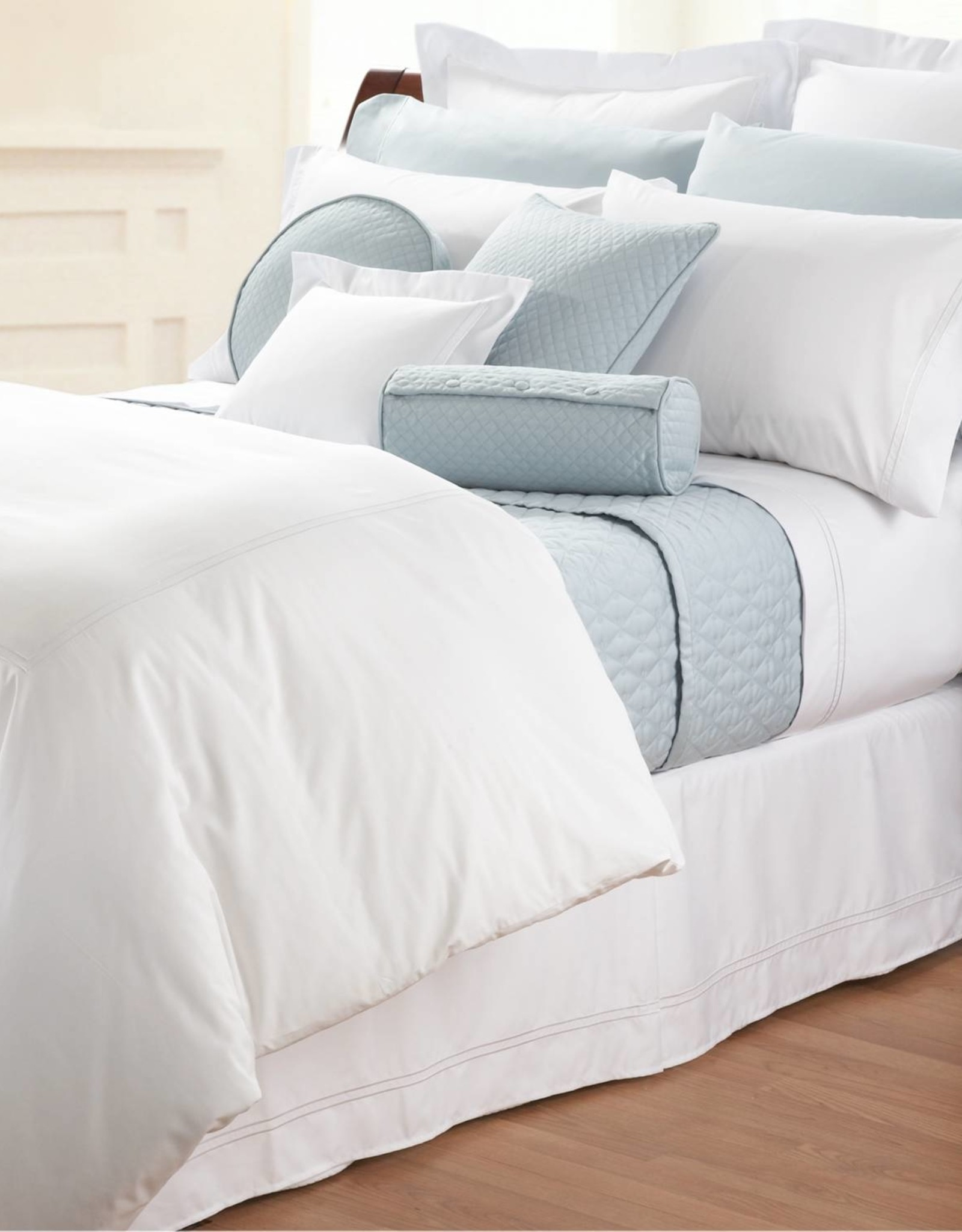 Cuddle Down Bed Skirt Cuddledown Percale Deluxe Twin White