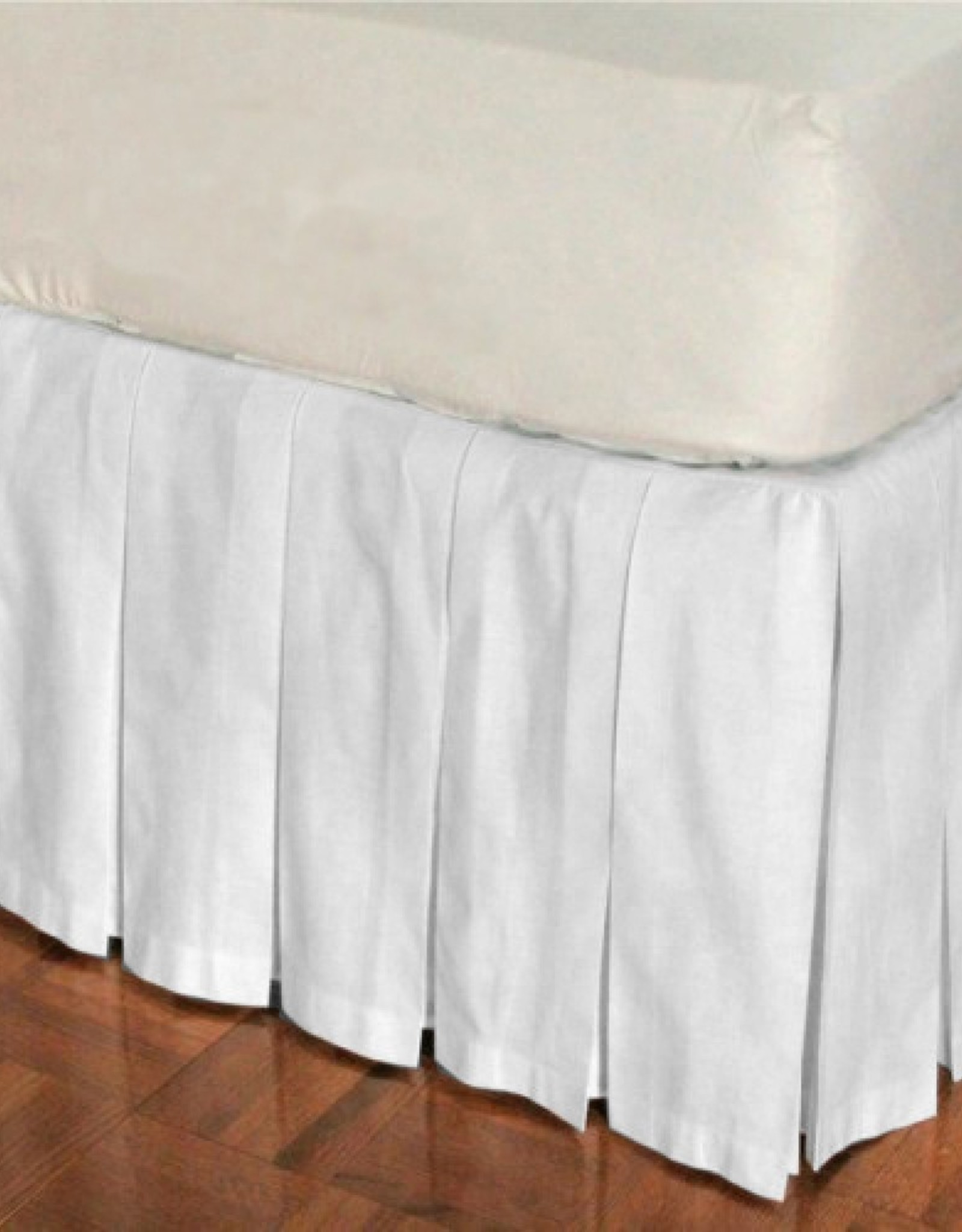 Bed Skirt Highland Feather White Twin