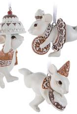 Xmas Abbott Ornament  Mice With Treats